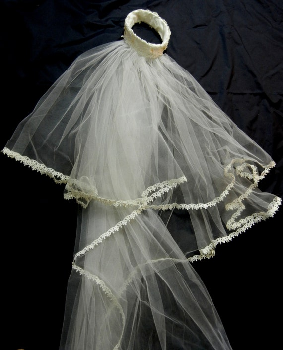 Vintage Veil, 1950s Veil, Wedding Veil, Vintage We