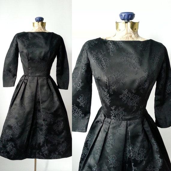 1950s Dress, Vintage Dress, Black Vintage Dress, 5
