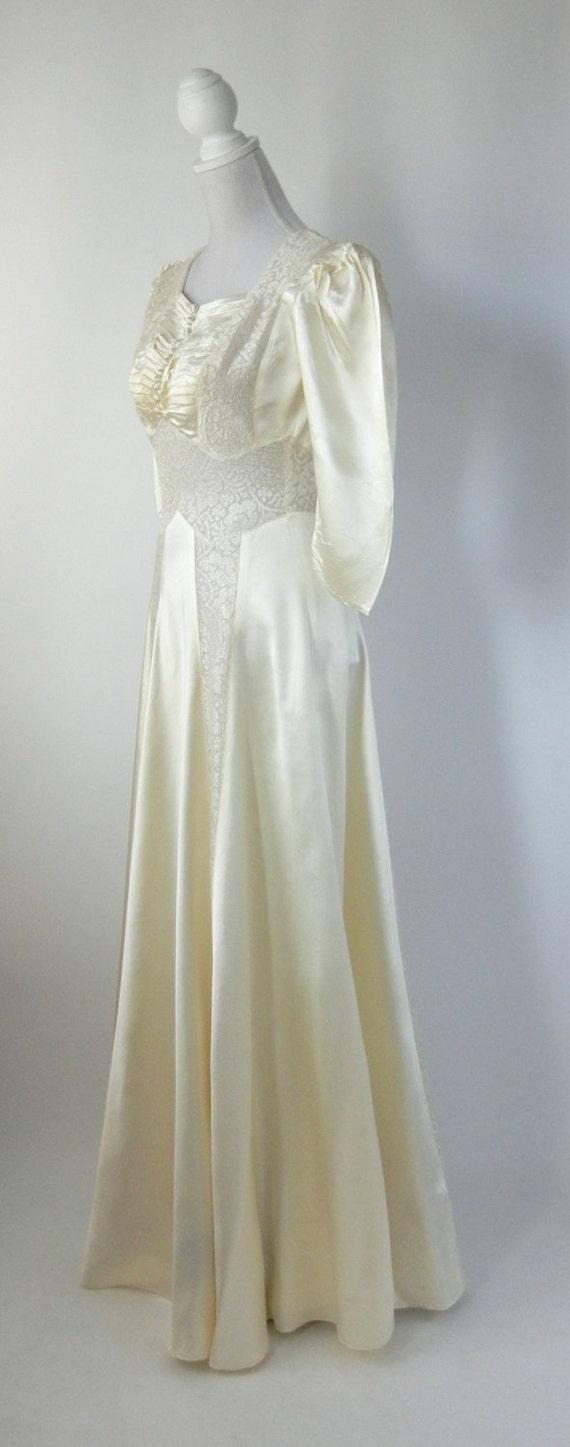 Vintage Wedding Dress, 1930s Wedding Dress, 30s W… - image 2