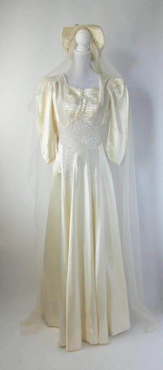 Vintage Wedding Dress, 1930s Wedding Dress, 30s W… - image 8