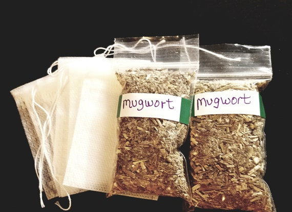Mugwort dried herb with FREE Tea Bags