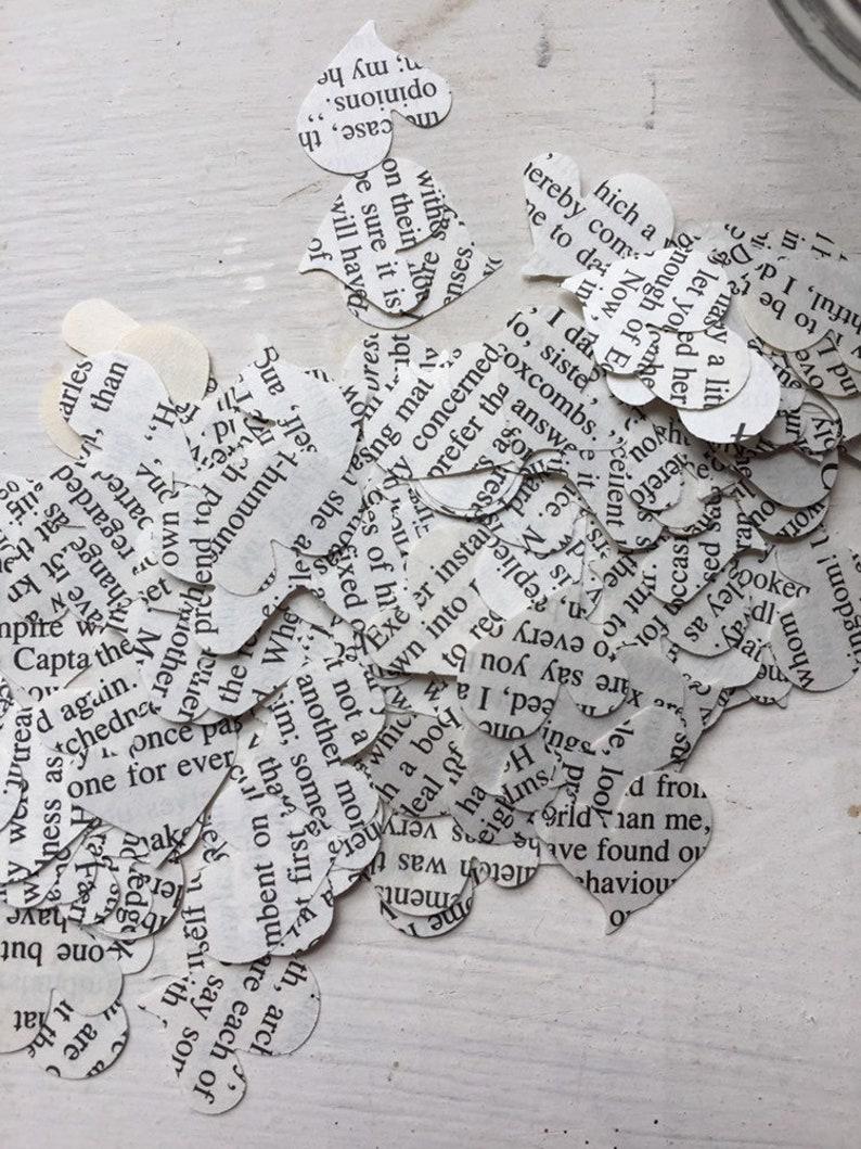 Jane Austen Vintage Heart Punches Confetti Valentine Party Jane Austen Novel Decor Set of 200