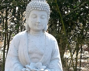 Buddha with Lotus Flower Statue (Small)