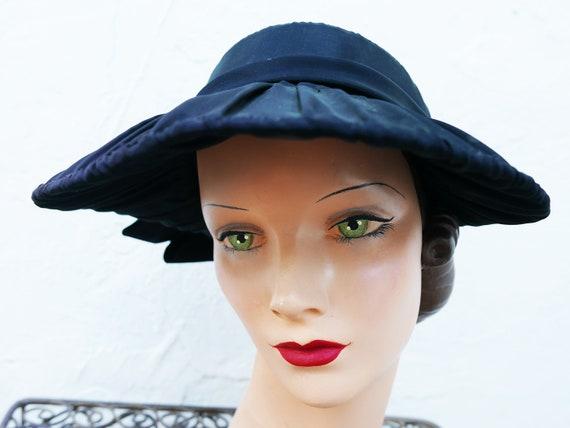 Antique Victorian Bonnet, Black Steampunk Hat - image 7