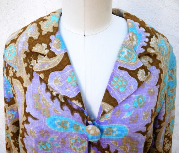 1960s Paisley Skirt Suit, NWT