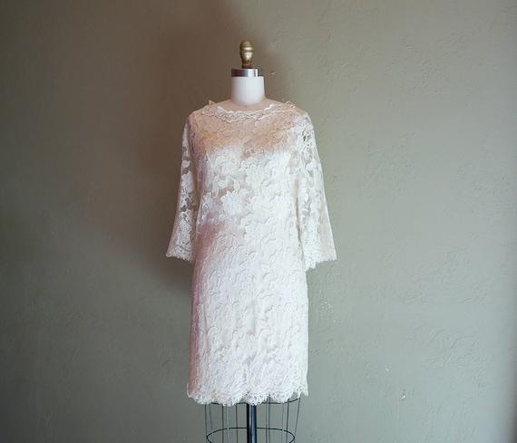 Jessica McClintock See Through Lace Dress