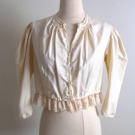 Antique Peasant Blouse, Size S - image 1
