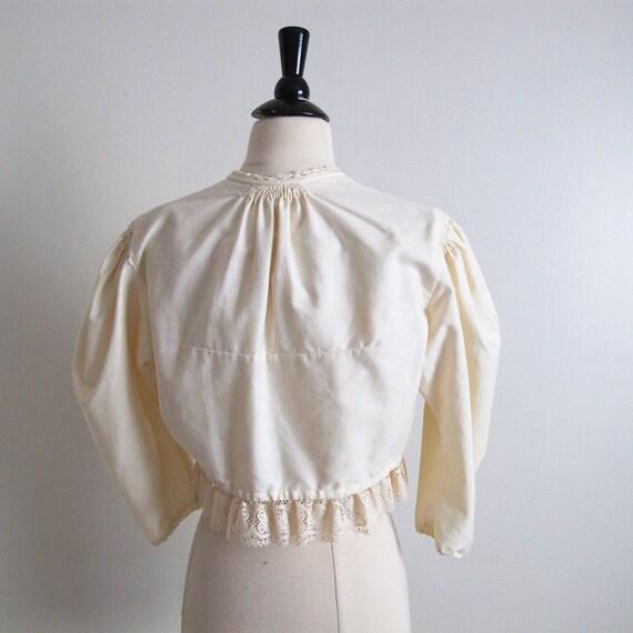 Antique Peasant Blouse, Size S - image 2