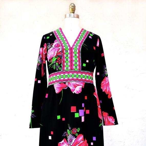 70s VIntage Boho Maxi Dress