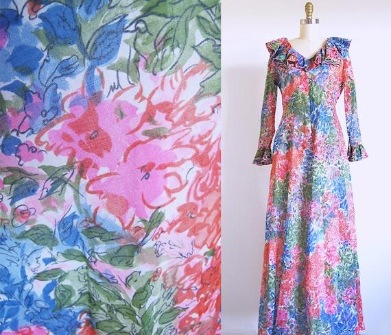 Flower Power Dress, 1960 Maxi
