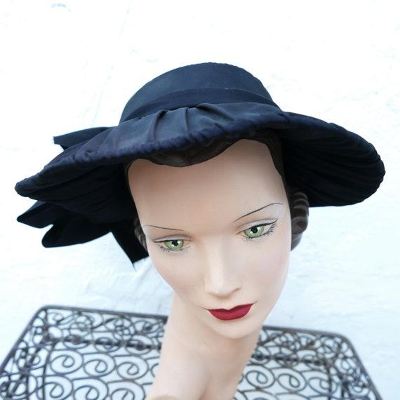Antique Victorian Bonnet, Black Steampunk Hat - image 6
