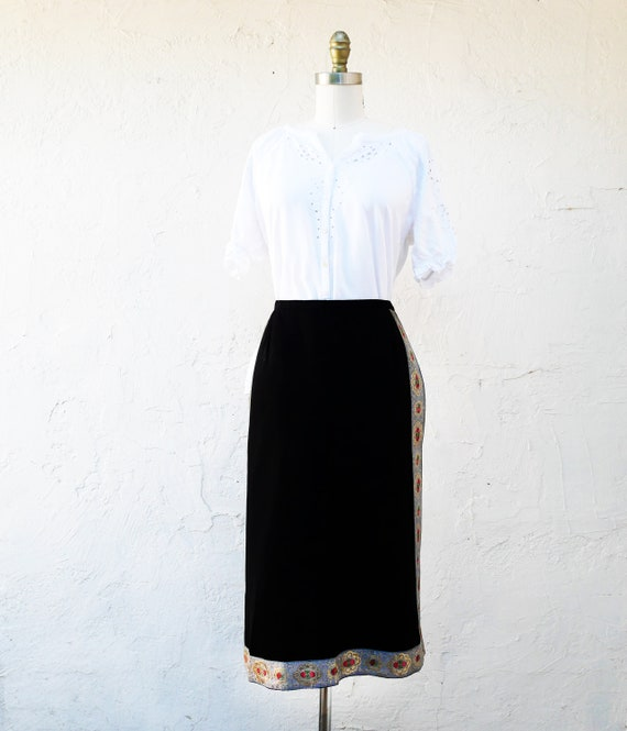 Traditional Apron,Black Festival Folk Costume Apro