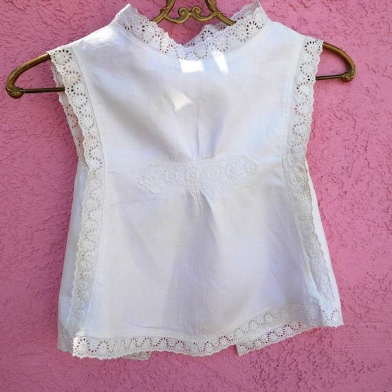 Antique Clothing, White Pinafore, Cotton Toddler … - image 8