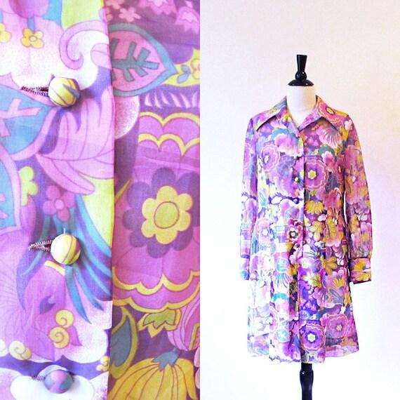 Lavender Mod Dress, Size M