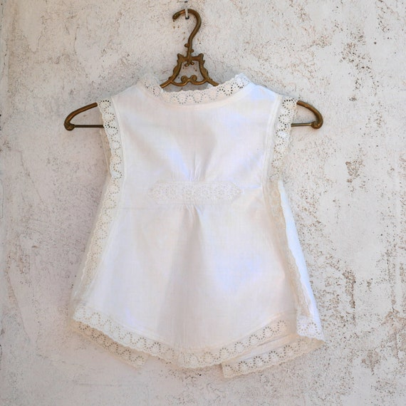 Antique Clothing, White Pinafore, Cotton Toddler D