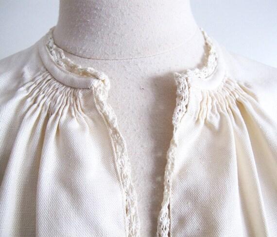 Antique Peasant Blouse, Size S - image 3