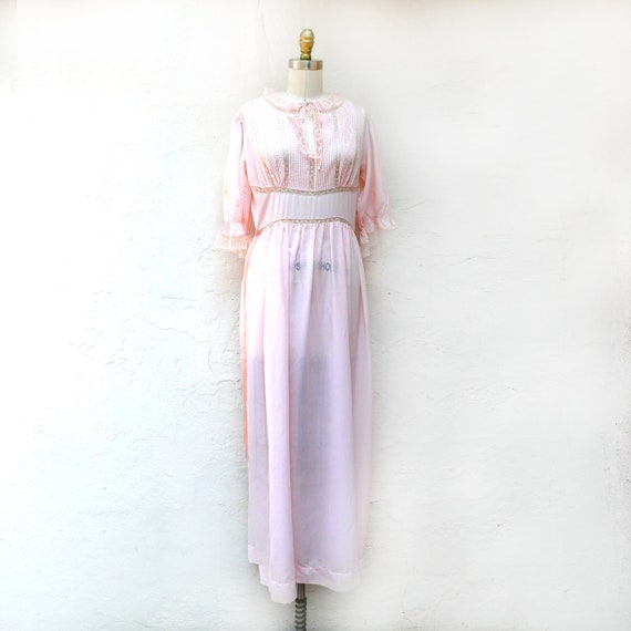 Vintage Barbizon Nightgown, 50s Pink Lingerie