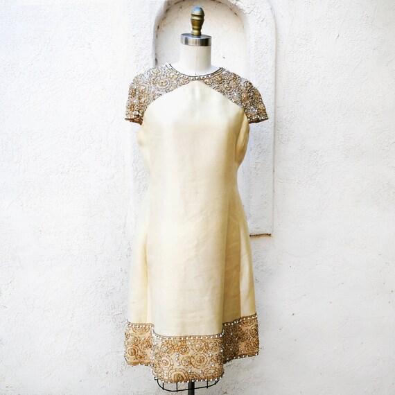 60s Mod Dress, Size XL, Malcom Starr, Short Weddin