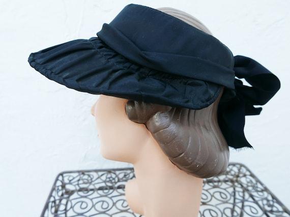 Antique Victorian Bonnet, Black Steampunk Hat - image 9