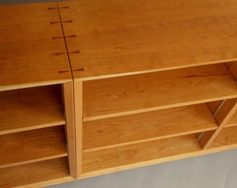 Solid hardwood bookcase