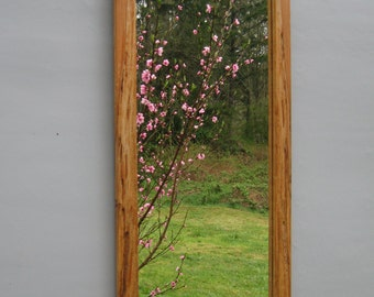 Spalted maple mirror