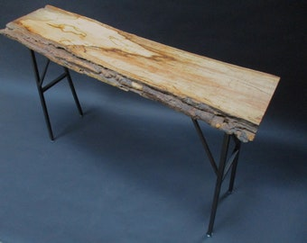 Live edge spalted maple console table