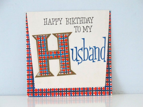 Vintage Hallmark Birthday Card Husband Etsy