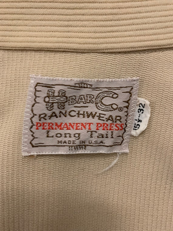 Vintage H Bar C Shirt - Size 15.5 x 32 - image 5