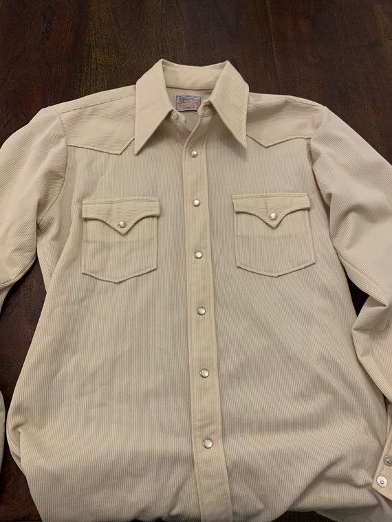 Vintage H Bar C Shirt - Size 15.5 x 32 - image 2