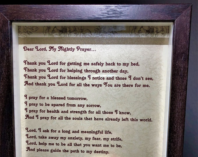 Inspirational Framed Prayer