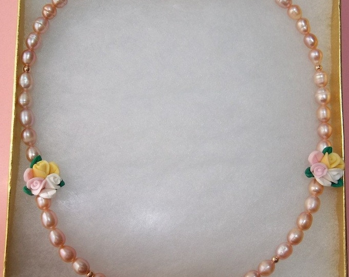 Spring Bouquet of Pearls Necklace