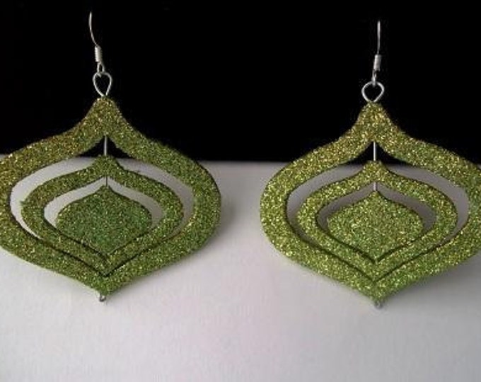 Glittery Green Ear Ornaments