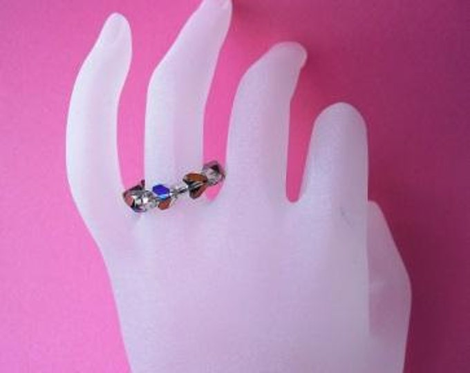 Beaded Glass Ring