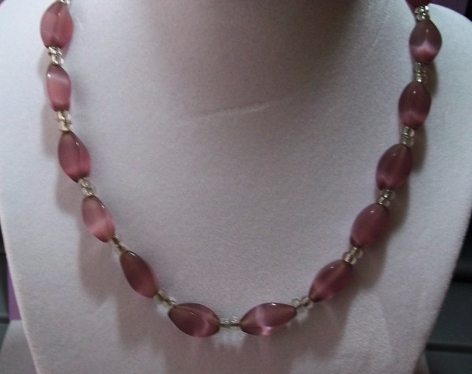 Amethyst Cats Eye Necklace
