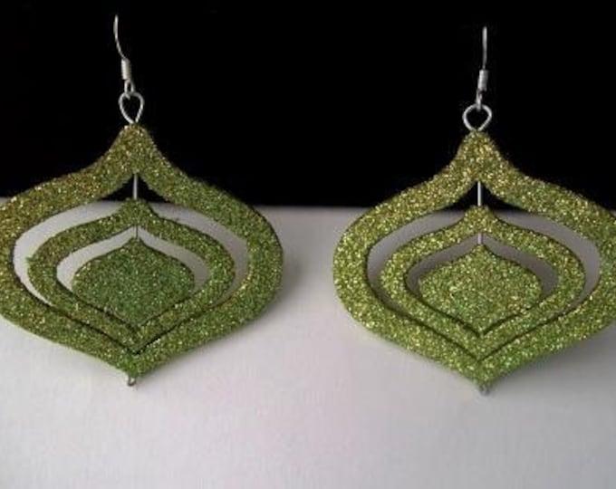 Glittery Green Ear Ornaments
