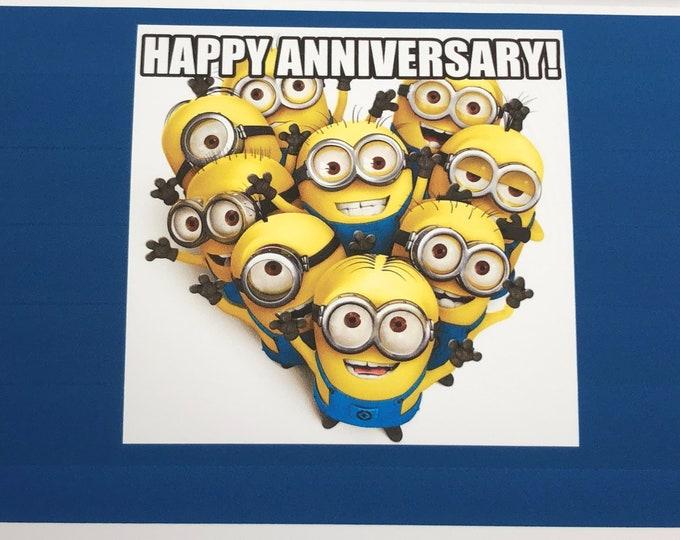Happy Anniversay Card - Minion Design
