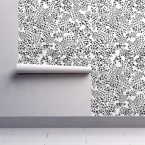 Animal Print Wallpaper Snakeprint Wallpaper Black And White Wallpaper Easy Install Removable Wallpaper Repositionable Wallpaper Peel Stick