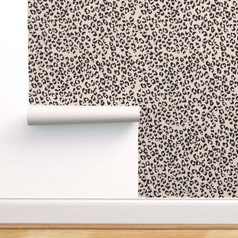 Leopard Print Wallpaper Animal Print Wallpaper Removable Peel Etsy