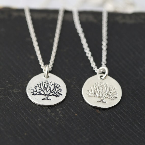 Gift for her Sterling Silver Necklace Tree Necklace Tree of Life Necklace Pendant Necklace Jewelry