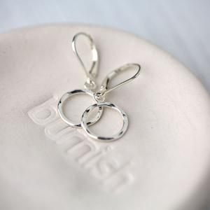 Lightweight for Sensitive Earlobe Lever back Hoops Everyday Jewelry Hammered Boho Big Hoop Ear Wires Teardrop Silver Dangle Earrings