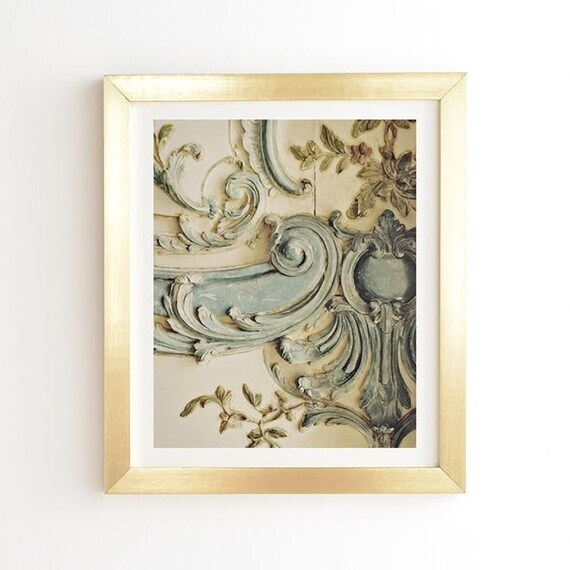 Blue Lace Ready-to-Hang Framed Wall Art Chateau Versailles   Etsy