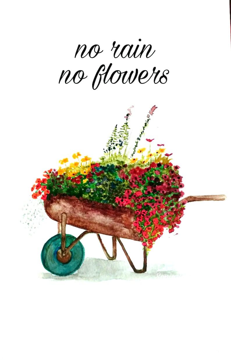 Flowers in Wheelbarrow image 0