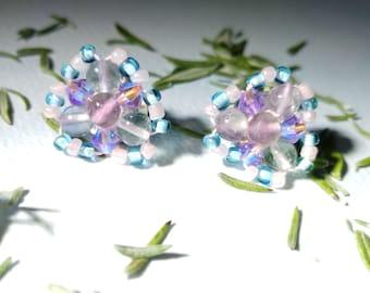 Fluorite Unicorn Beaded Earrings