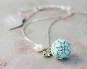 Blue Mint Artichoke Necklace