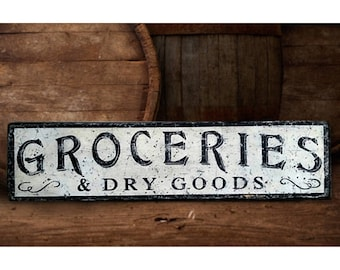 Dry Goods Sign Etsy