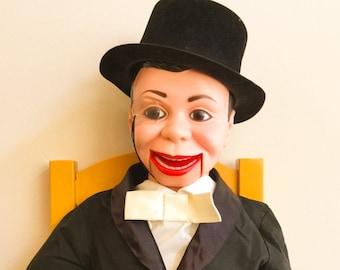Vintage Ventriloquist Dummy Charlie McCarthy Boxed