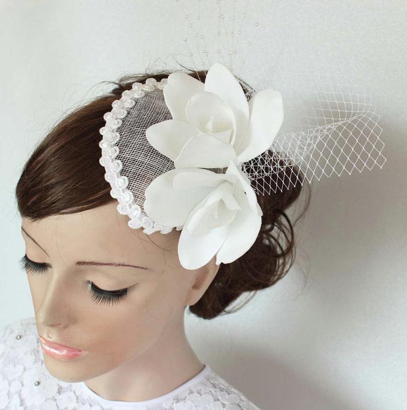 895de6acdc9bb Bridal Cocktail Hat Wedding Hair Fascinator Bridal
