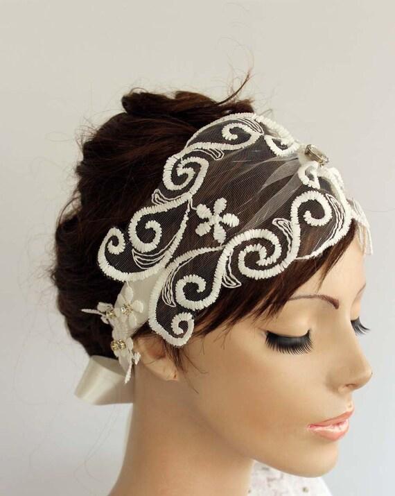 c78f8c450b2fe Juliet Cap Veil Tulle Bridal Hair Fascinator Delicate