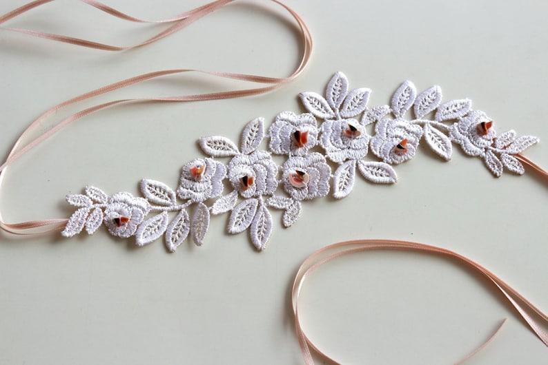 Lace bridal headband minimal wedding head piece fascinator etsy