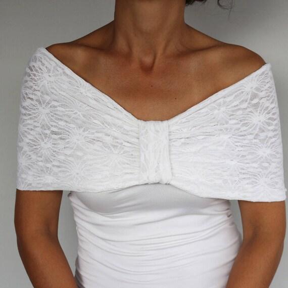 Wedding Shawl White Bridal Cover Up White Dress Cover White Bridal Capelet Bridal Shawl White Wedding Bolero White Wedding Capelet